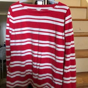 J.Crew red and white striped sweater